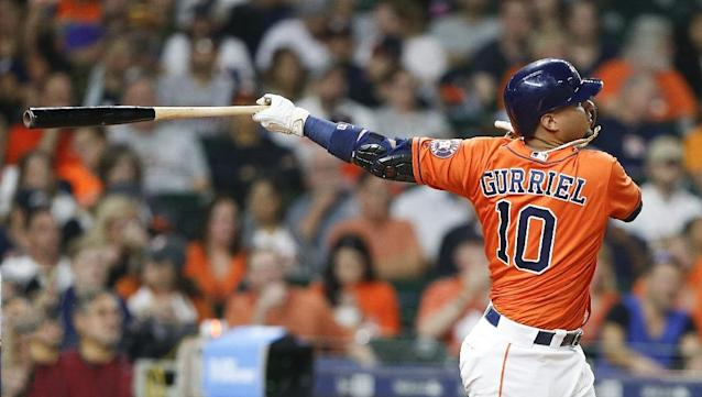 Houston slugger Yuli Gurriel delivers the first multihomer game of his career on the same day his younger brother Lourdes hit two homers for Toronto (AFP Photo/Bob Levey)