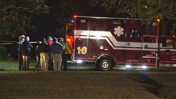PHOTO: An ambulance responds to the scene outside Houston where authorities discovered an infant child believed to be connected to the case of missing Austin mother Heidi Broussard, Dec, 19, 2019. (KTRK)