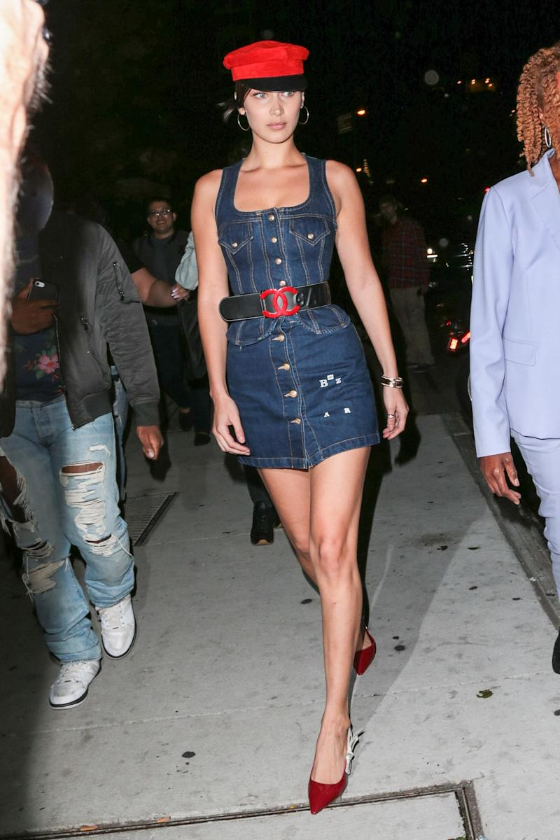 Bella Hadid is seen on September 08, 2017 in New York City. (Photo by Pressphotobank/Bauer-Griffin/GC Images)