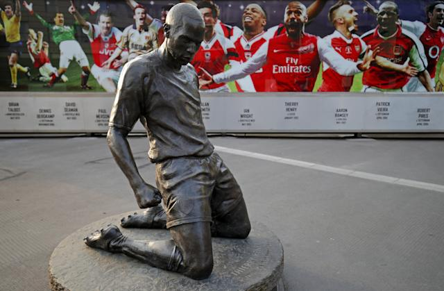 Henry has his own statue outside Arsenal's Emirates Stadium. (Adam Davy/PA Wire)