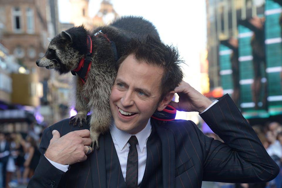 James Gunn attends Guardians Of The Galaxy Premiere in leicester square,  London on Thursday,  July, 24, 2014. (Photo by Jon Furniss/Invision/AP)