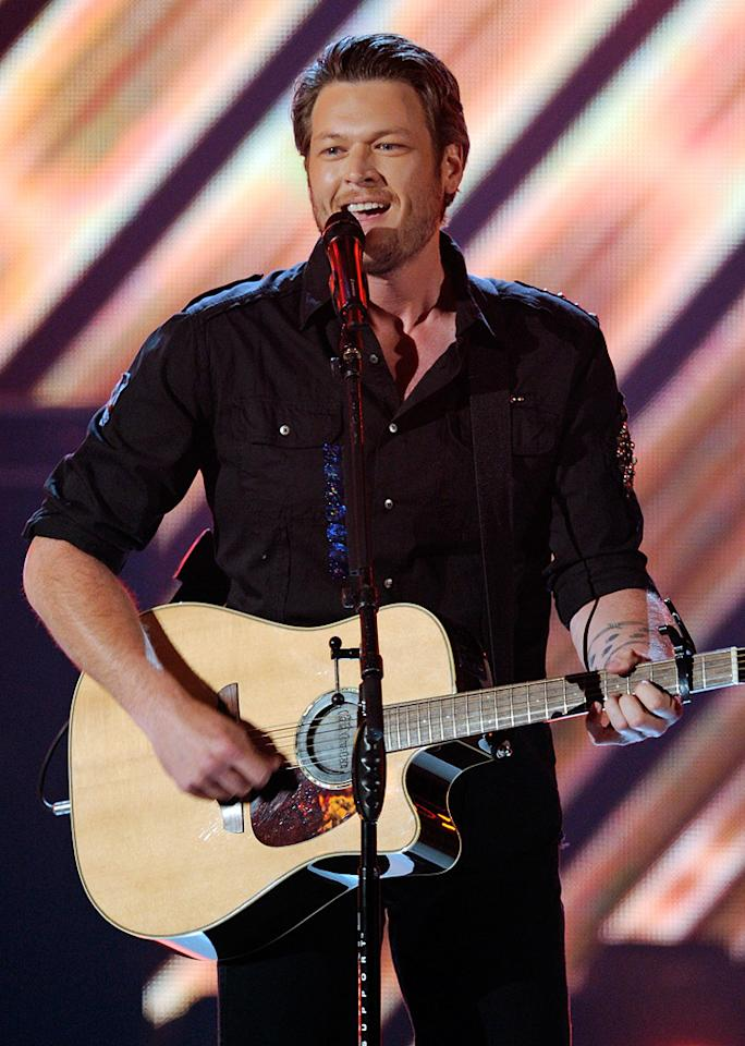 """Towering Oklahoman Blake Shelton has had a whopping 17 hit singles on the country charts over the last decade and, last year, gained a crop of new fans as a coach (alongside the likes of Christina Aguilera, Cee Lo Green, and Maroon 5's Adam Levine) on the newest reality show in search of fresh talent, NBC's """"The Voice."""" Ethan Miller/<a href=""""http://www.gettyimages.com/"""" target=""""new"""">GettyImages.com</a> - April 3, 2011"""
