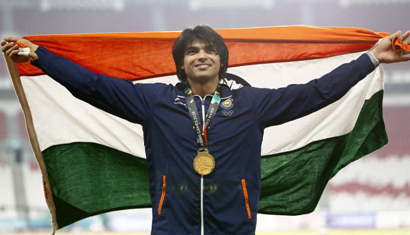 An elbow injury has forced the country's highest-ranked athlete, javelin thrower Neeraj Chopra to pull out of the team. AP/Bernat Armangue