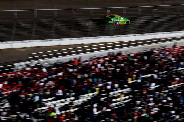 LAS VEGAS, NV - MARCH 10: Danica Patrick drives the #7 GoDaddy.com Chevrolet during the NASCAR Nationwide Series Sam's Town 300 at Las Vegas Motor Speedway on March 10, 2012 in Las Vegas, Nevada. (Photo by Ronald Martinez/Getty Images for NASCAR)