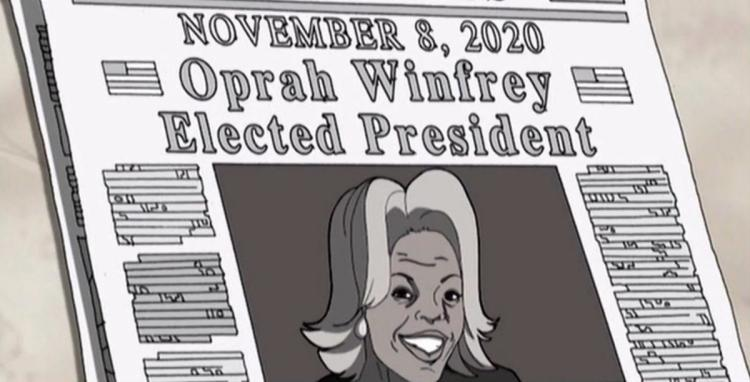 """The Boondocks"" predicted Oprah Winfrey would win the presidency in 2020."
