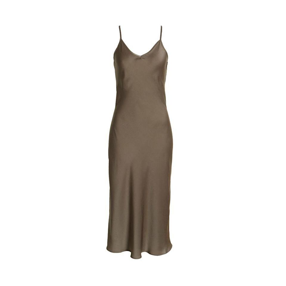 """<p><strong>ALLSAINTS</strong></p><p>nordstrom.com</p><p><a href=""""https://go.redirectingat.com?id=74968X1596630&url=https%3A%2F%2Fwww.nordstrom.com%2Fs%2Fallsaints-tierny-satin-midi-slipdress%2F6116373&sref=https%3A%2F%2Fwww.elle.com%2Ffashion%2Fshopping%2Fg36462948%2Fnordstrom-half-yearly-sale-2021%2F"""" rel=""""nofollow noopener"""" target=""""_blank"""" data-ylk=""""slk:Shop Now"""" class=""""link rapid-noclick-resp"""">Shop Now</a></p><p><strong><del>$155</del> $93 (40% off)</strong></p>"""
