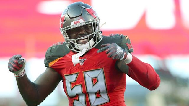 Bucs' Barrett up to record 8 sacks in 1st 3 games