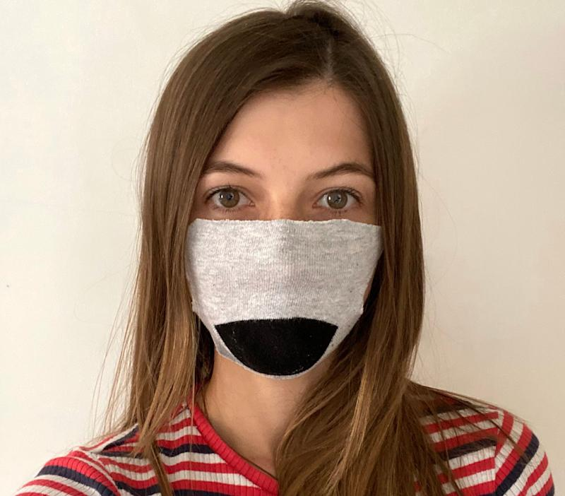 Sock face masks are easy to make – but are they effective? (Photo: Natasha Hinde)