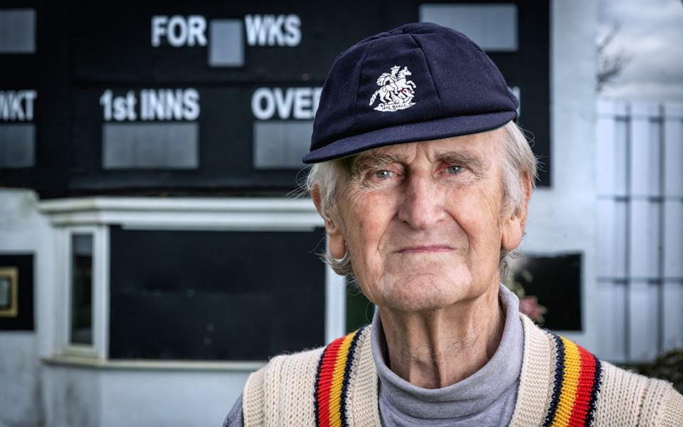 England cricketer Ted Dexter pictured at Wolverhamptopn cricket ground in his England MCC jumper and England Turing cap - Paul Cooper