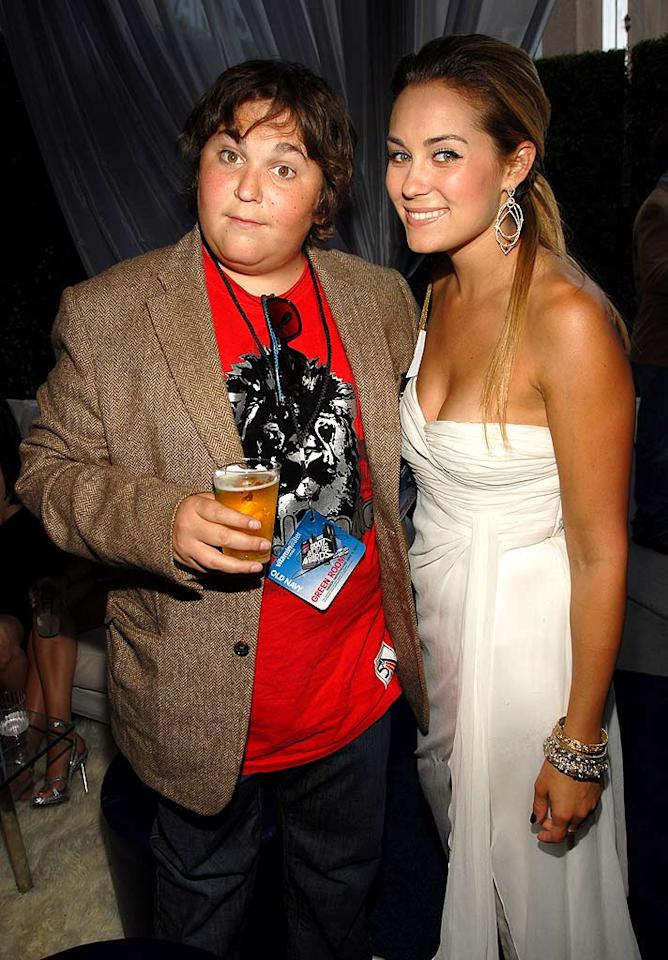 """Fellow MTV reality stars Andy Milonakis and Lauren Conrad take time out for a photo op. Kevin Mazur/<a href=""""http://www.wireimage.com"""" target=""""new"""">WireImage.com</a> - June 3, 2007"""