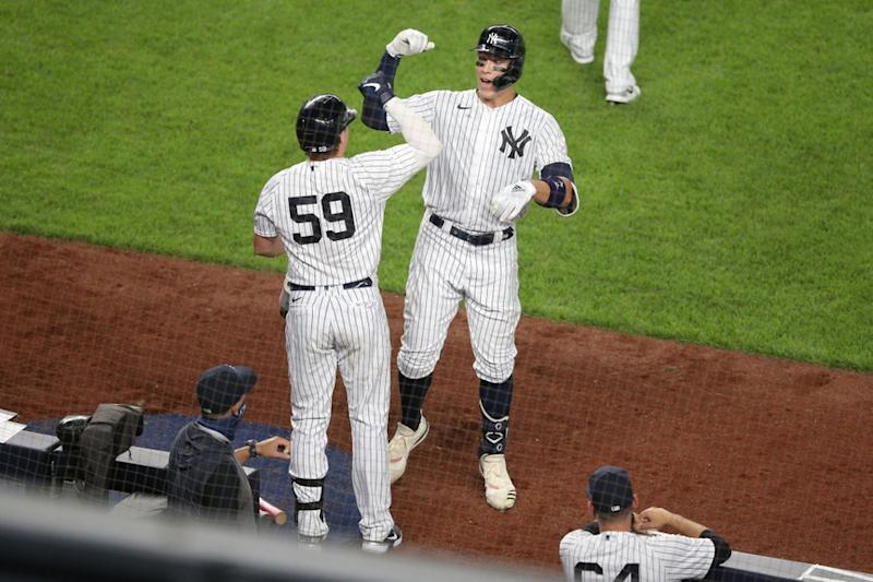 Judge and Voit celebrate HR