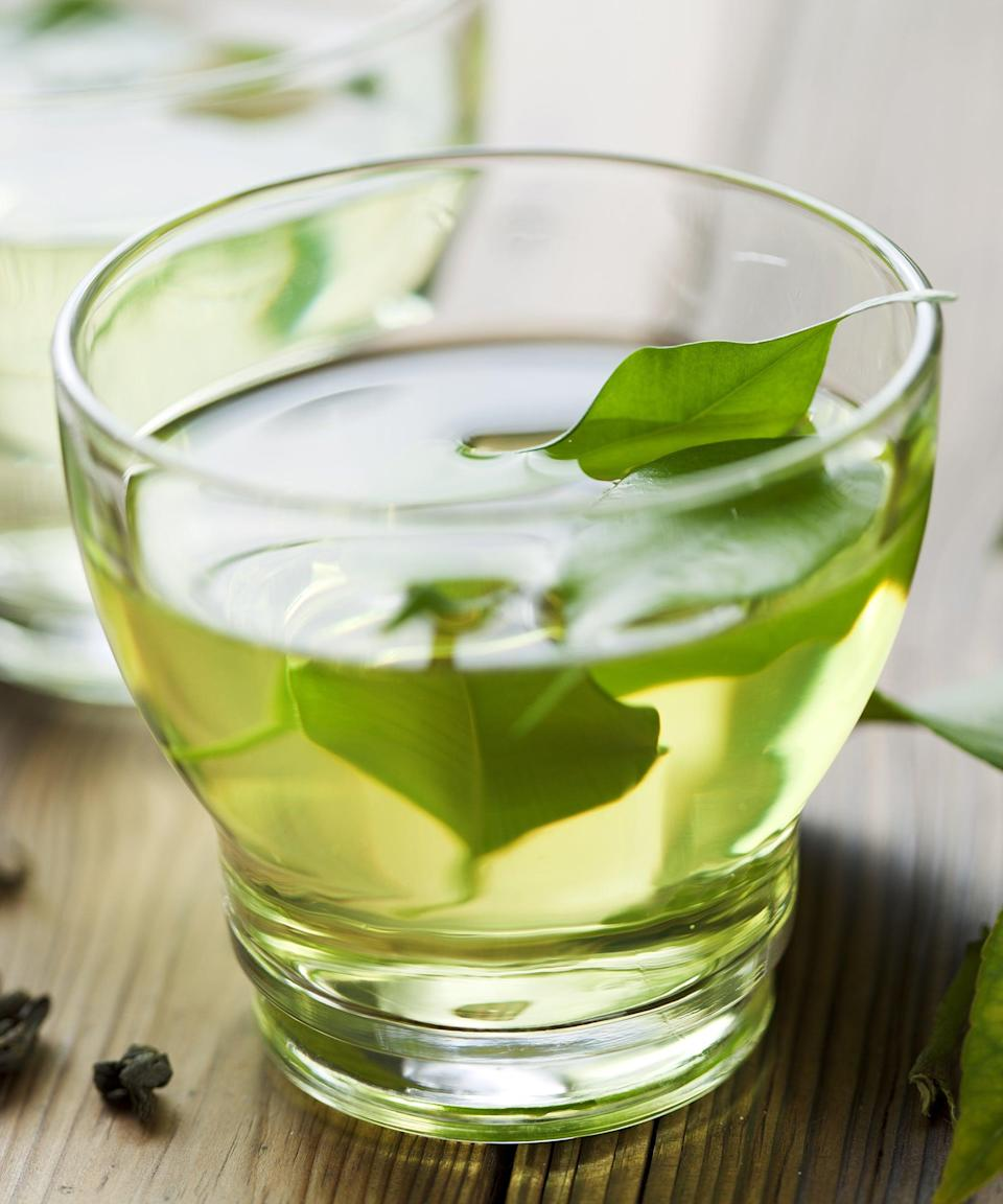 """<h2>Green tea</h2> <br>""""Some compounds in green tea <a href=""""https://www.ncbi.nlm.nih.gov/pubmed/23835657"""" rel=""""nofollow noopener"""" target=""""_blank"""" data-ylk=""""slk:have been"""" class=""""link rapid-noclick-resp"""">have been </a><a href=""""https://www.ncbi.nlm.nih.gov/pubmed/23835657"""" rel=""""nofollow noopener"""" target=""""_blank"""" data-ylk=""""slk:proven to stimulate T-cells"""" class=""""link rapid-noclick-resp"""">proven to stimulate T-cells</a>,"""" Davis says. T-cells are responsible for killing off viruses and bacteria that wind up in your body. """"Catechins in tea are also antimicrobial, antioxidative, and <a href=""""https://www.ncbi.nlm.nih.gov/pmc/articles/PMC6076941/pdf/BMRI2018-9105261.pdf"""" rel=""""nofollow noopener"""" target=""""_blank"""" data-ylk=""""slk:may help reduce disease risk"""" class=""""link rapid-noclick-resp"""">may help reduce disease risk</a>,"""" she adds.<br><span class=""""copyright"""">Photo: Getty Images.</span><br><br>"""