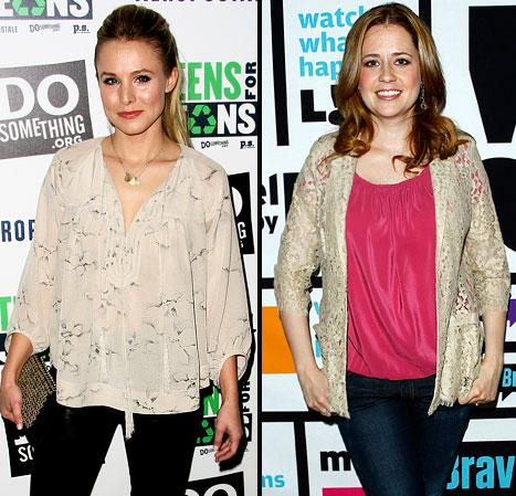 Kristen Bell Recruits Jenna Fischer for 30-Day Fitness Challenge