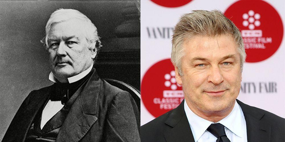 <p>Fillmore was the 13<sup>th</sup> President of the United States and died in 1874. As an anti-slavery moderate, he shared the well-known liberal views of Alec Baldwin. Unlike Baldwin, he didn't appear in 'Along Came Polly'.</p>