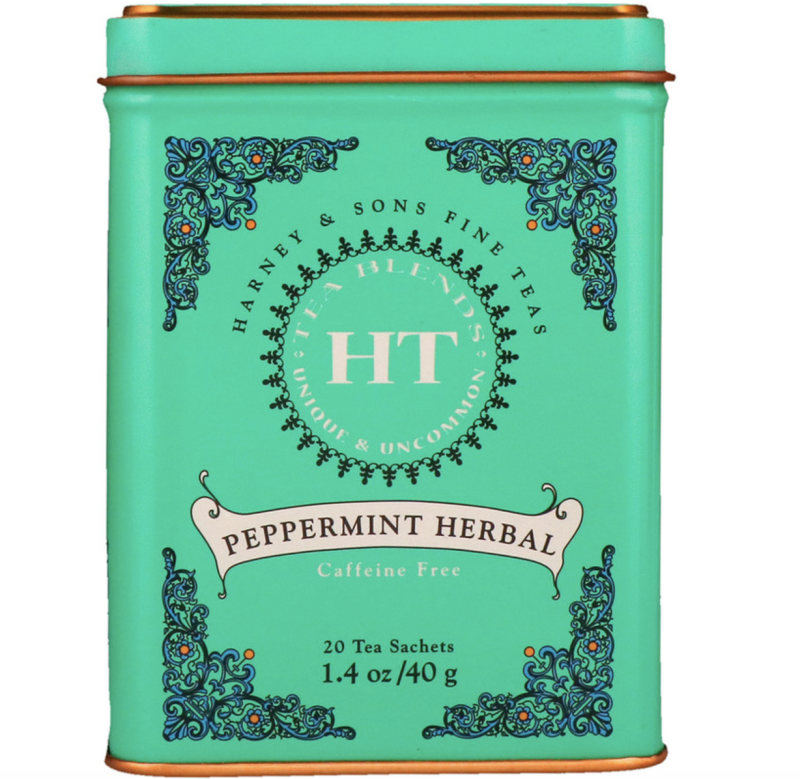 Harney & Sons, HT Tea Blend, Peppermint Herbal, Caffeine Free, 20 Tea Sachets, 40g, S$11.80. PHOTO: iHerb