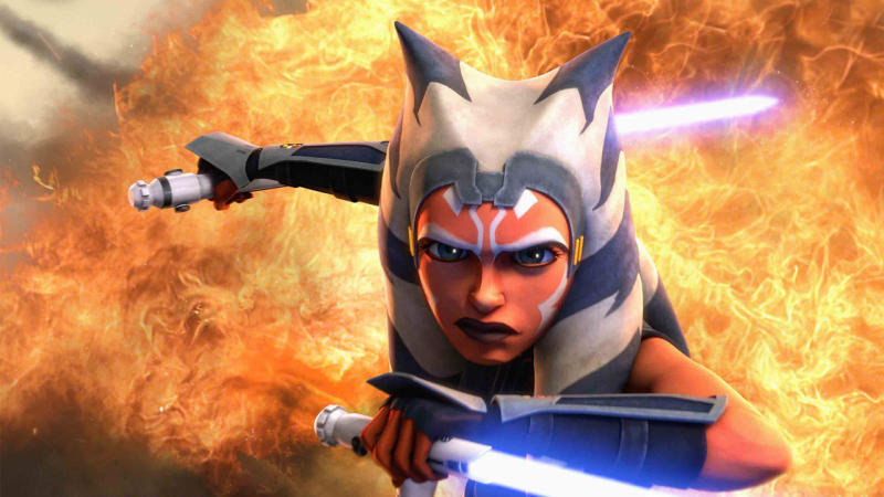 Ahsoka Tano in 'Star Wars: The Clone Wars'. (Credit: Lucasfilm/Disney)
