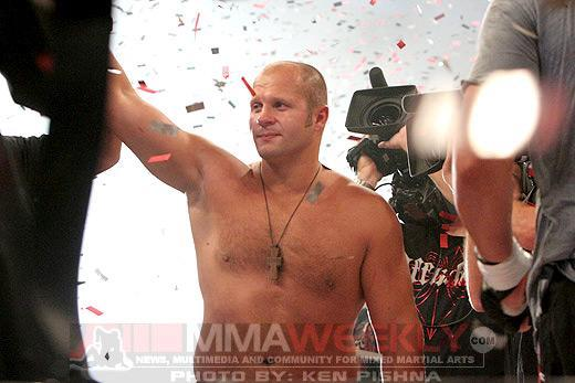 Fedor Emelianenko says that, were he in his prime, he would like to fight UFC champ Cain Velasquez. (MMA Weekly)