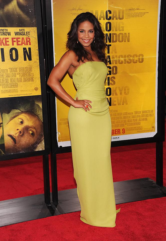 """<a href=""""http://movies.yahoo.com/movie/contributor/1800316707"""">Sanaa Lathan</a> at the New York City premiere of <a href=""""http://movies.yahoo.com/movie/1810161340/info"""">Contagion</a> on September 7, 2011."""