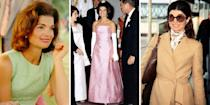 <p>The legacy of first couple John F Kennedy and Jackie Kennedy is an indelible part of American cultural and political history, and Jacqueline Kennedy Onassis is undeniably one of the greatest style icons of the last century. Click through to see her most memorable looks through the years.</p>