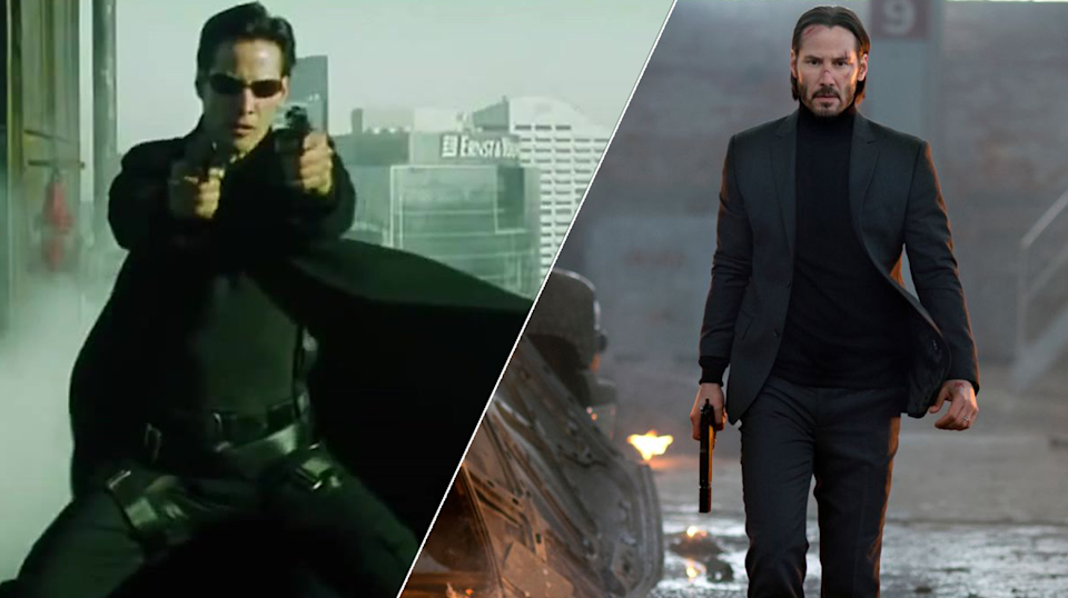 John Wick 3 director Chad Stahelski has revealed the Wachowksis are working on the Matrix reboot (credit: Warner Brothers, Lionsgate)