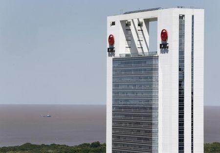 The Argentina headquarters of HSBC is pictured in Buenos Aires