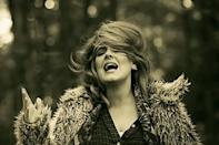 <p>In the most heart-wrenching, record-breaking, beautifully-shot music video maybe of all time, Adele dressed in the most perfectly pulled together (and easily emulated) fall outfit. In a flannel shirt, patterned blanket scarf, black pants, and a fuzzy Snuffleupagus-inspired fuzzy coat. Through love or loss, there's always fashion. </p>