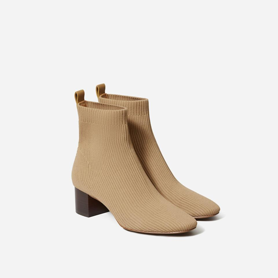 """<p><strong>Everlane</strong></p><p>everlane.com</p><p><a href=""""https://go.redirectingat.com?id=74968X1596630&url=https%3A%2F%2Fwww.everlane.com%2Fproducts%2Fwomens-day-boot-reknit-cumin&sref=https%3A%2F%2Fwww.seventeen.com%2Ffashion%2Fg37090791%2Feverlane-summer-sale-best-items%2F"""" rel=""""nofollow noopener"""" target=""""_blank"""" data-ylk=""""slk:Shop Now"""" class=""""link rapid-noclick-resp"""">Shop Now</a></p><p><strong><del>$115</del></strong> <strong>$69</strong></p><p>Footwear trends come and go, but an ankle boot is forever.</p>"""