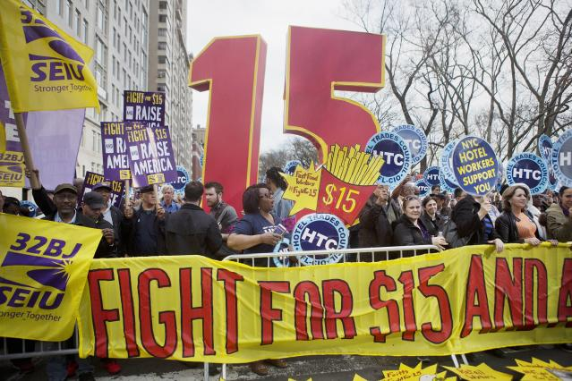 Protesters in 300+ cities push for a $15 minimum wage.
