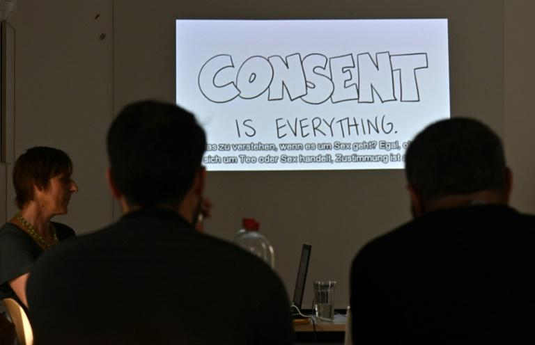 Refugees from Syria, Iraq or Afghanistan are being given the option to attend a course on sexual consent and themes around Western norms and attitudes (AFP Photo/Tobias SCHWARZ)