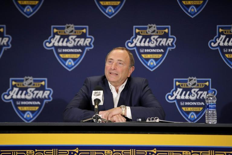NHL Commissioner Gary Bettman says completing the suspended 2019-2020 season may not be possible (AFP Photo/BRUCE BENNETT)