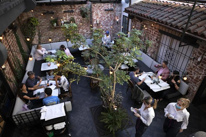 The courtyard is the most popular dining area at Violet.