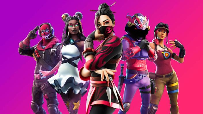 Five characters from Epic Games' Fortnite