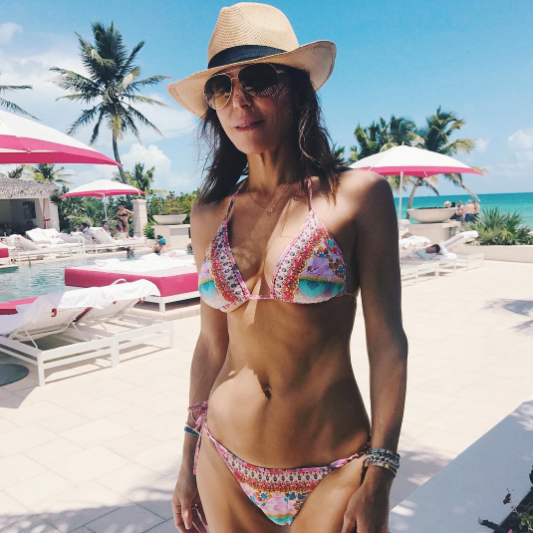"""<p>""""Work hard, play harder,"""" the <i>Real Housewives of New York</i> star captioned this photo taken in the Bahamas. Can we add to the end: """"catfight hardest""""? Just a suggestion. But, hey, nice bikini. (Photo: Bethenny Frankel via Instagam)<br><br></p>"""
