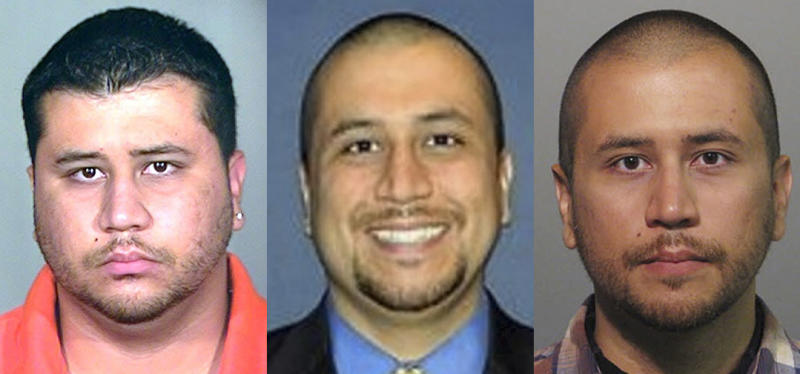 This photo combo shows photos of George Zimmerman that have been released since he shot and killed 17-year-old Trayon Martin on Feb. 26, 2012. From left, a 2005 booking photo provided by the Orange County Jail, an undated but recent photo taken from the Orlando Sentinel's website, and the April 11, 2012 booking mug provided by the Sanford Police. Much has already been made about outdated photos of Martin and Zimmerman that were the dominant images of early news coverage of the case. While more recent photos of a thinner Zimmerman had surfaced, the live television footage and photos taken at the hearing have given people around the country a more extensive look at him than they've had up to this point. (AP Photo)