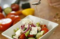 """<p>It only takes five ingredients to make a delicious vinaigrette that will complement all of your <a href=""""https://www.thedailymeal.com/healthy-eating/mediterranean-diet-it-s-not-just-diet-it-s-lifestyle?referrer=yahoo&category=beauty_food&include_utm=1&utm_medium=referral&utm_source=yahoo&utm_campaign=feed"""" rel=""""nofollow noopener"""" target=""""_blank"""" data-ylk=""""slk:Mediterranean-inspired dishes"""" class=""""link rapid-noclick-resp"""">Mediterranean-inspired dishes</a>. The secret ingredient is Greek oregano, which you can find at most supermarkets and specialty grocery stores.</p> <p><a href=""""https://www.thedailymeal.com/recipes/greek-style-vinaigrette-recipe?referrer=yahoo&category=beauty_food&include_utm=1&utm_medium=referral&utm_source=yahoo&utm_campaign=feed"""" rel=""""nofollow noopener"""" target=""""_blank"""" data-ylk=""""slk:For the Greek-Style Vinaigrette recipe, click here."""" class=""""link rapid-noclick-resp"""">For the Greek-Style Vinaigrette recipe, click here.</a></p>"""