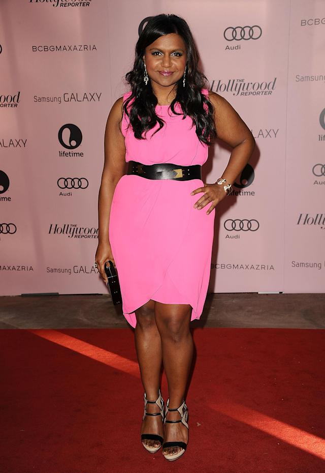BEVERLY HILLS, CA - DECEMBER 05: Actress Mindy Kaling attends the Hollywood Reporter's 21st annual Women In Entertainment breakfast at The Beverly Hills Hotel on December 5, 2012 in Beverly Hills, California. (Photo by Jason LaVeris/FilmMagic)