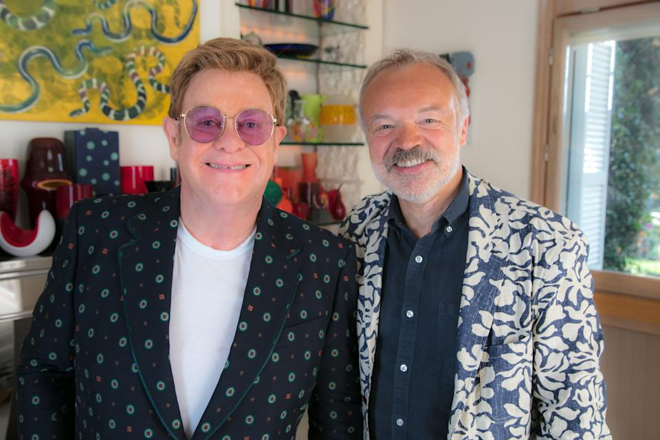 Sir Elton John opens up to Graham Norton in a new documentary (Credit: BBC)