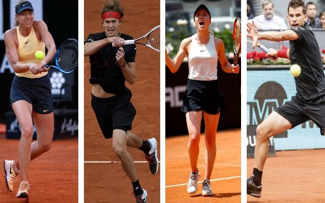 Sharapova, Zverev, Svitolina and Thiem are just four players to keep a close eye on at the French Open