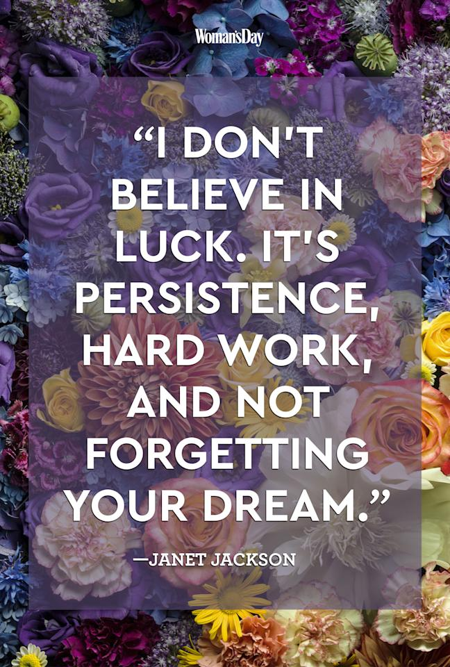"""<p>""""I don't believe in luck. It's persistence, hard work, and not forgetting your dream.<span>""""</span></p>"""