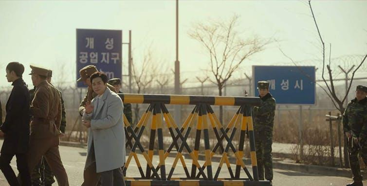 "<span class=""caption"">The 38th parallel which divides the two Koreas.</span> <span class=""attribution""><span class=""source"">Netflix</span></span>"