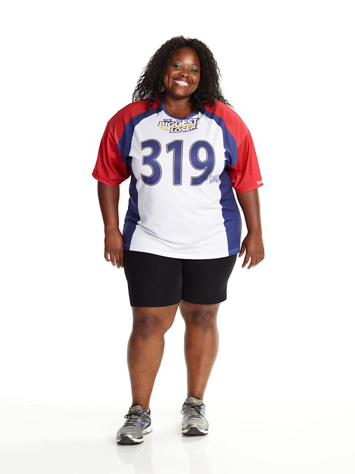 "Tumi Ogundala competes on NBC's ""The Biggest Loser"" Season 15."