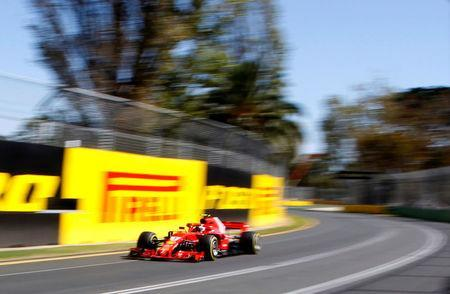 Formula One F1 - Australian Grand Prix - Melbourne Grand Prix Circuit, Melbourne, Australia - March 23, 2018 Ferrari's Kimi Raikkonen in action during practice REUTERS/Brandon Malone