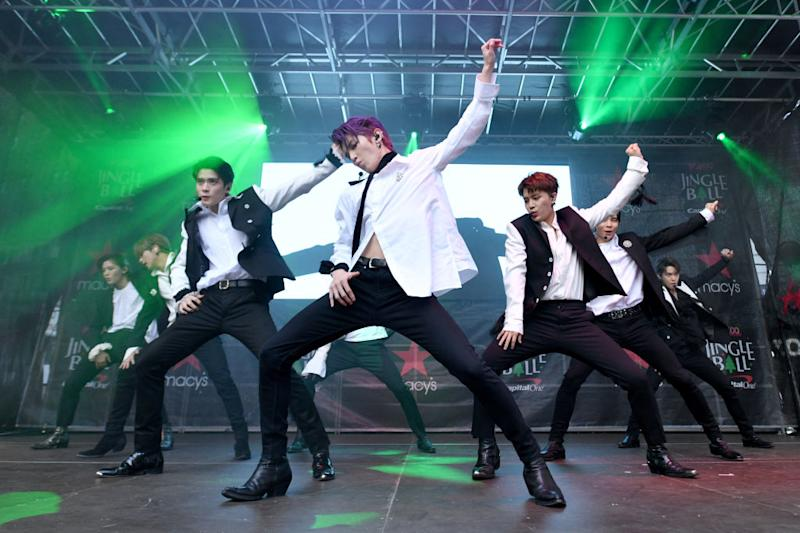 NEW YORK, NEW YORK - SEPTEMBER 27: NCT 127 performs onstage during iHeartRadio's Z100 Jingle Ball 2019 presented by Capital One® official Kickoff at Herald Square Plaza on September 27, 2019 in New York City. (Photo by Bryan Bedder/Getty Images for iHeartRadio)