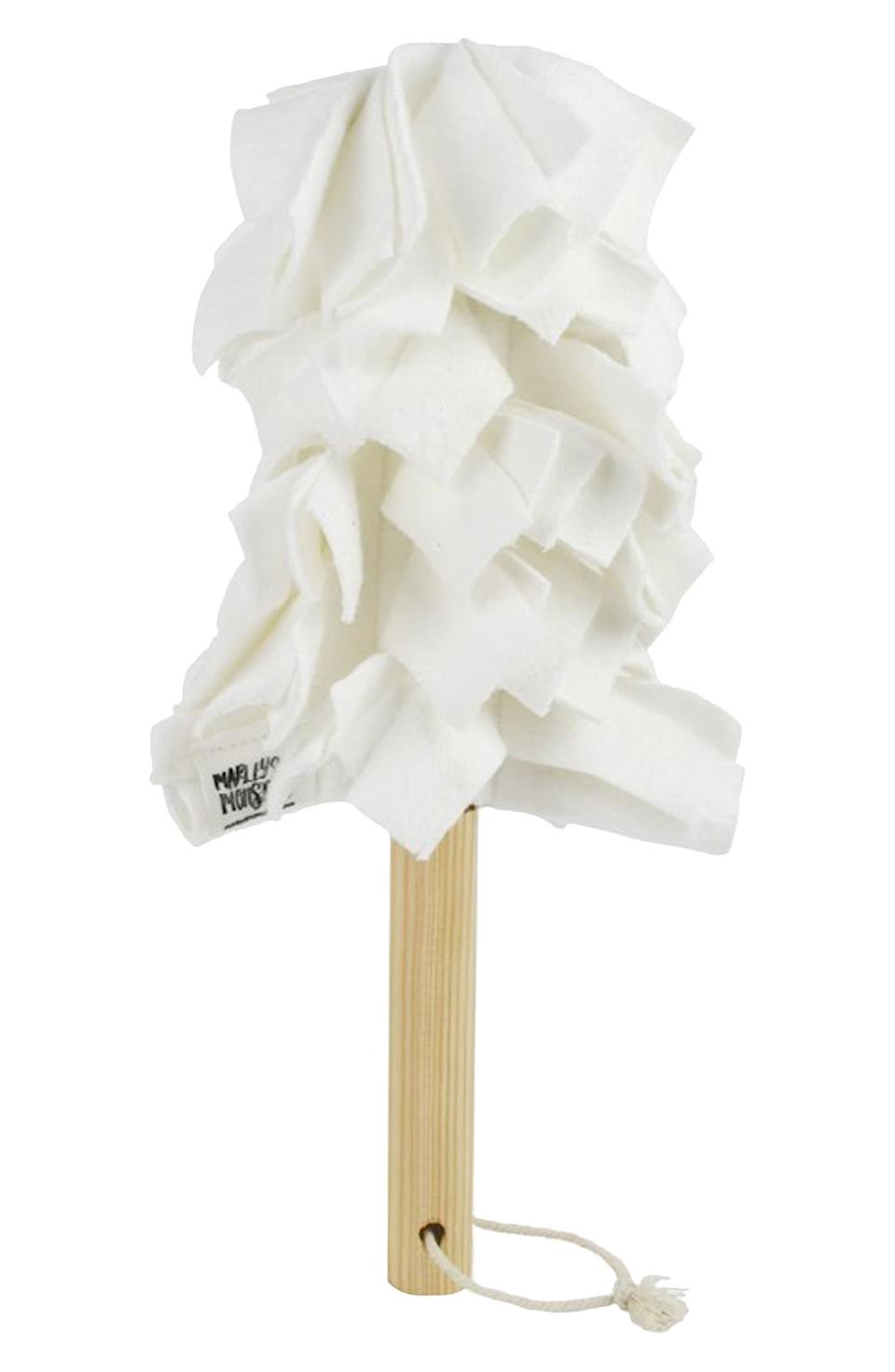 Package Free x Marley's Monsters Washable Fleece Duster & Wood Handle. Image via Nordstrom.