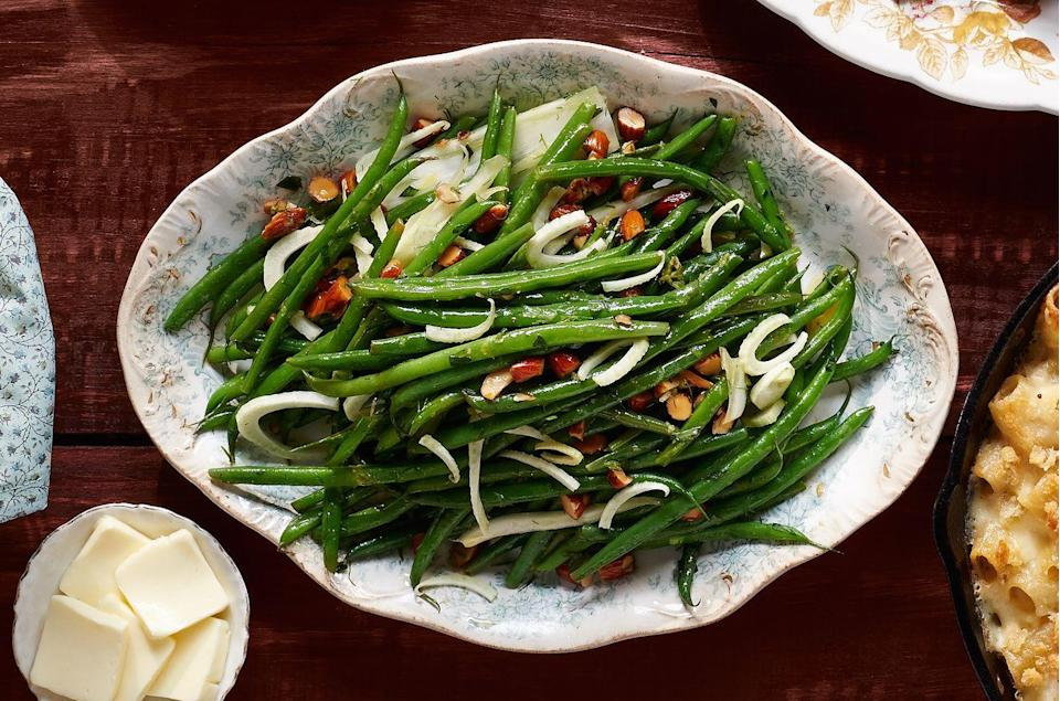 "<p>It's just a quick flash in the pan for this zesty veggie side.</p><p><strong><a href=""https://www.countryliving.com/food-drinks/recipes/a36670/green-beans-and-fennel-with-tarragon/"" rel=""nofollow noopener"" target=""_blank"" data-ylk=""slk:Get the recipe."" class=""link rapid-noclick-resp"">Get the recipe.</a></strong></p>"