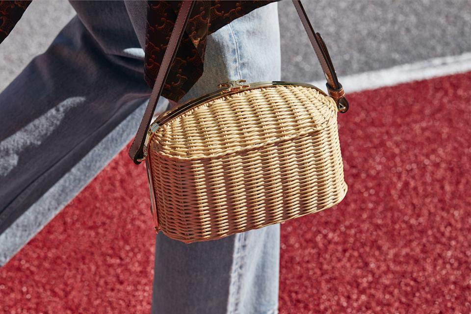 Celine Lunch Box Bag in wicker and calf leather. (PHOTO: Celine)