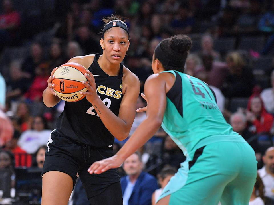 A'ja Wilson can't make as much as an 18-year-old in the G League under current WNBA rules. (Photo by Sam Wasson/Getty Images)