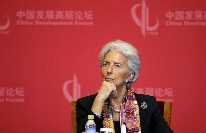 IMF Managing Director Christine Lagarde attends the opening ceremony of China Development Forum in Beijing
