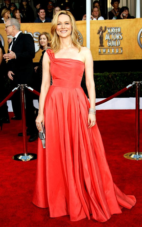 """<a href=""""/laura-linney/contributor/28782"""">Laura Linney</a> arrives at the <a href=""""/the-15th-annual-screen-actors-guild-awards/show/44244"""">15th Annual Screen Actors Guild Awards</a> held at the Shrine Auditorium on January 25, 2009 in Los Angeles, California."""