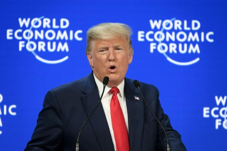 Trump tears into environmental 'doom' mongers at Davos forum